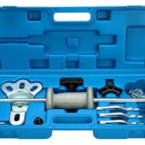 8MILELAKE 16pc Slide Hammer Dent Puller 2/3 Jaw External Internal Oil Seal Bearing Remover